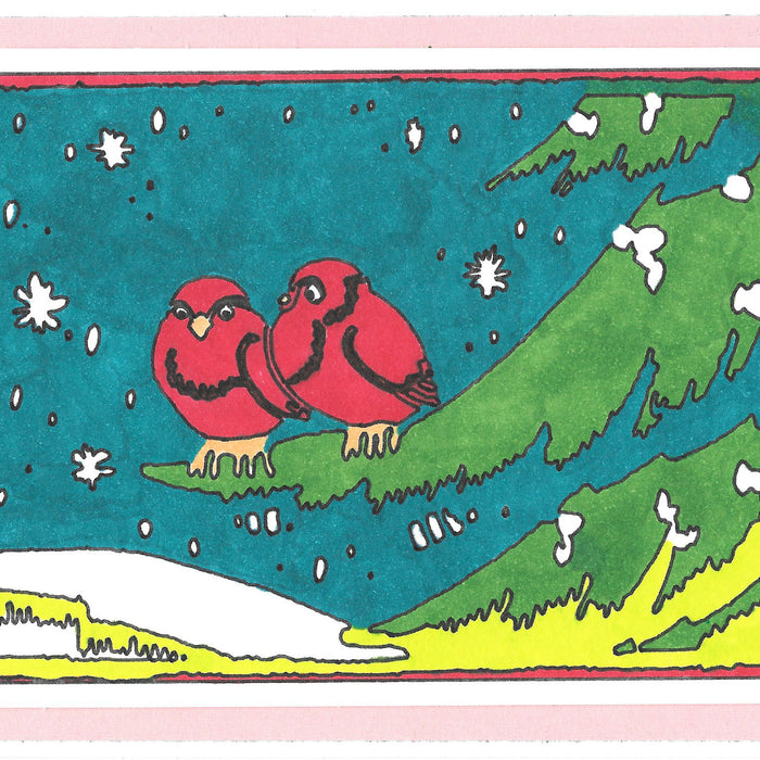 Hand-Colored Christmas Cards Using Vintage Illustrations and Your Cricut