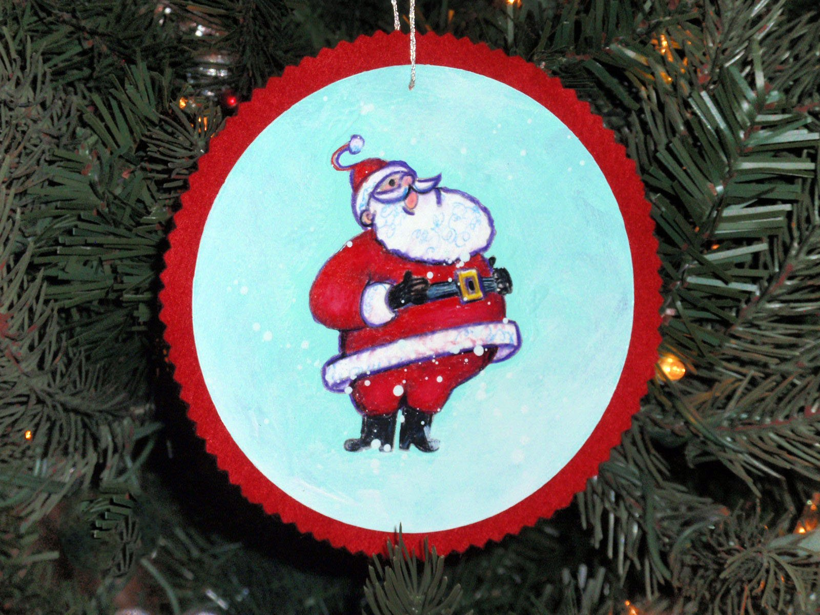 Santa Ornaments: A Step By Step Coloring Guide