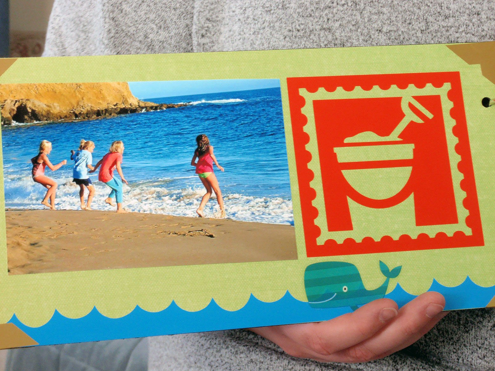 Take Me to the Beach: Cricut Scrapbook Album