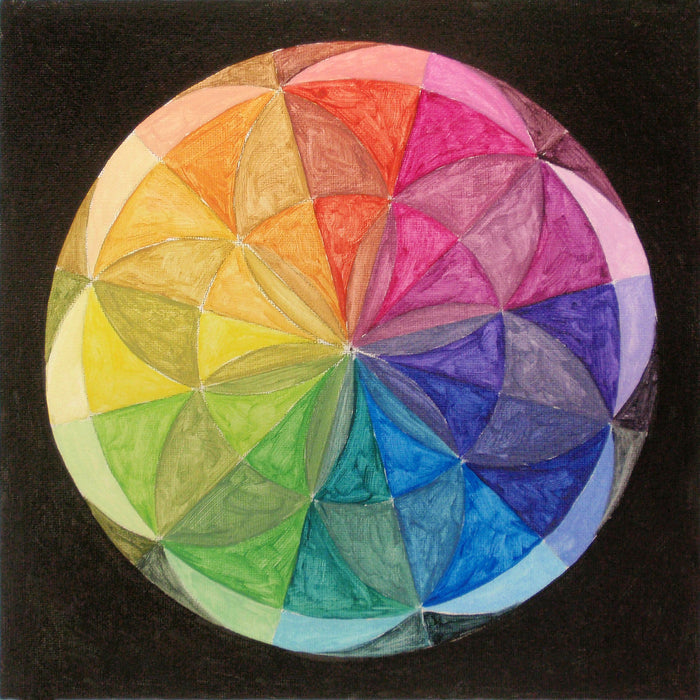 The Color Wheel: Choosing and Mixing Paint Colors Plus Mandala Paint Project
