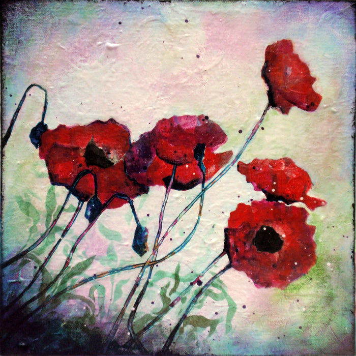 Abstract Poppy Painting: Beginner Acrylic Painting Project