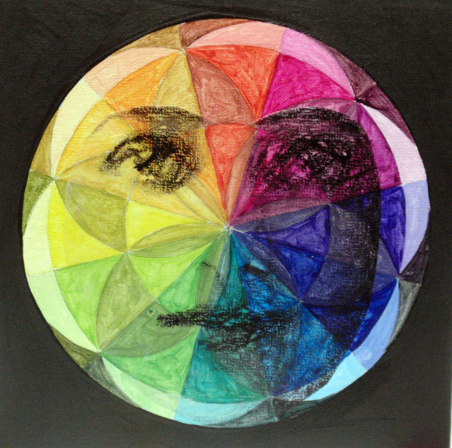 The Color Wheel Bonus Technique: Make an Image Transfer for Your Color Wheel Mandala