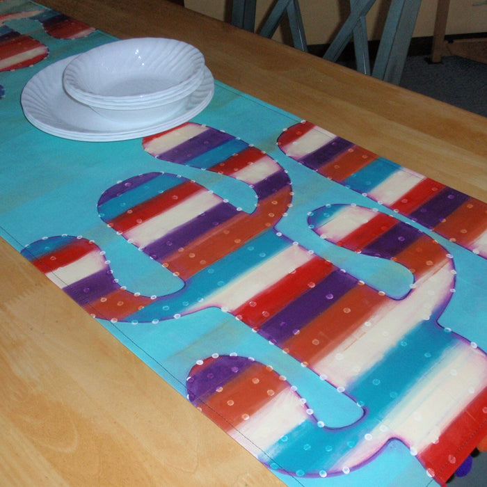 Painted Cactus Runner: Bring Easy Southwestern Stripes to Your Table