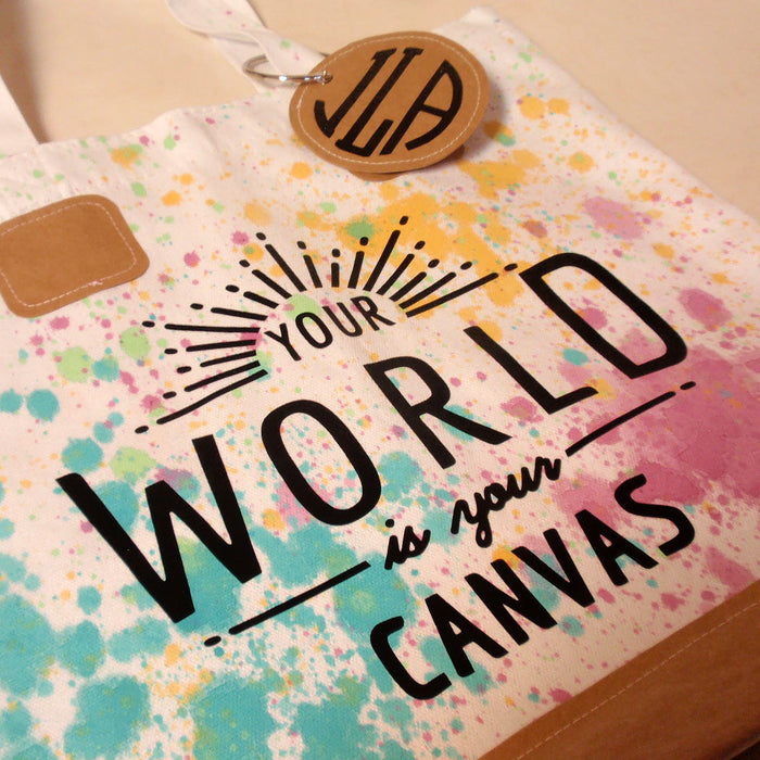 Your World is Your Canvas Tote Bag: Cricut Iron-On Project