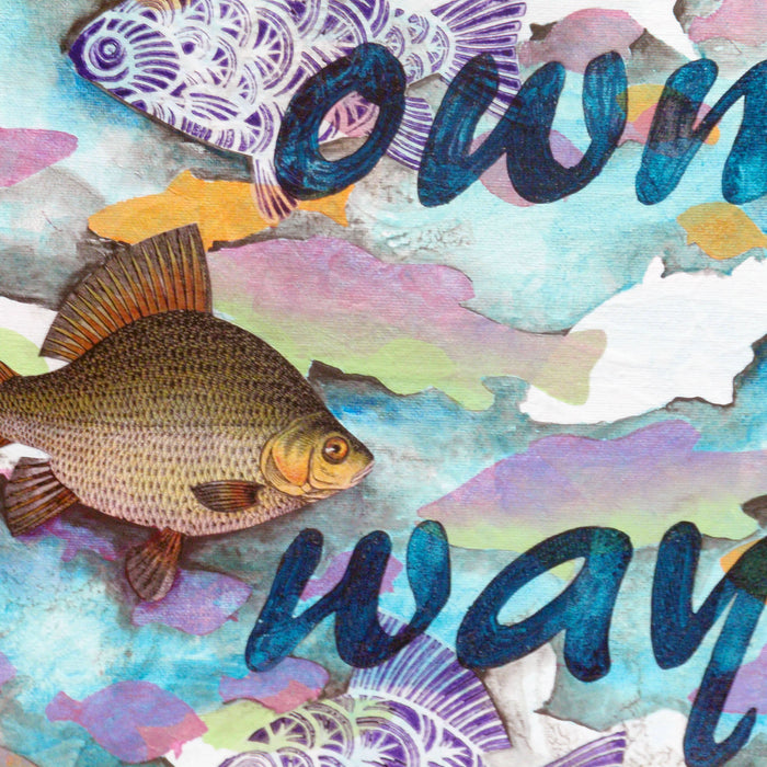 Go Your Own Way: Mixed Media Project Using Stamps, Stencils, and Masks