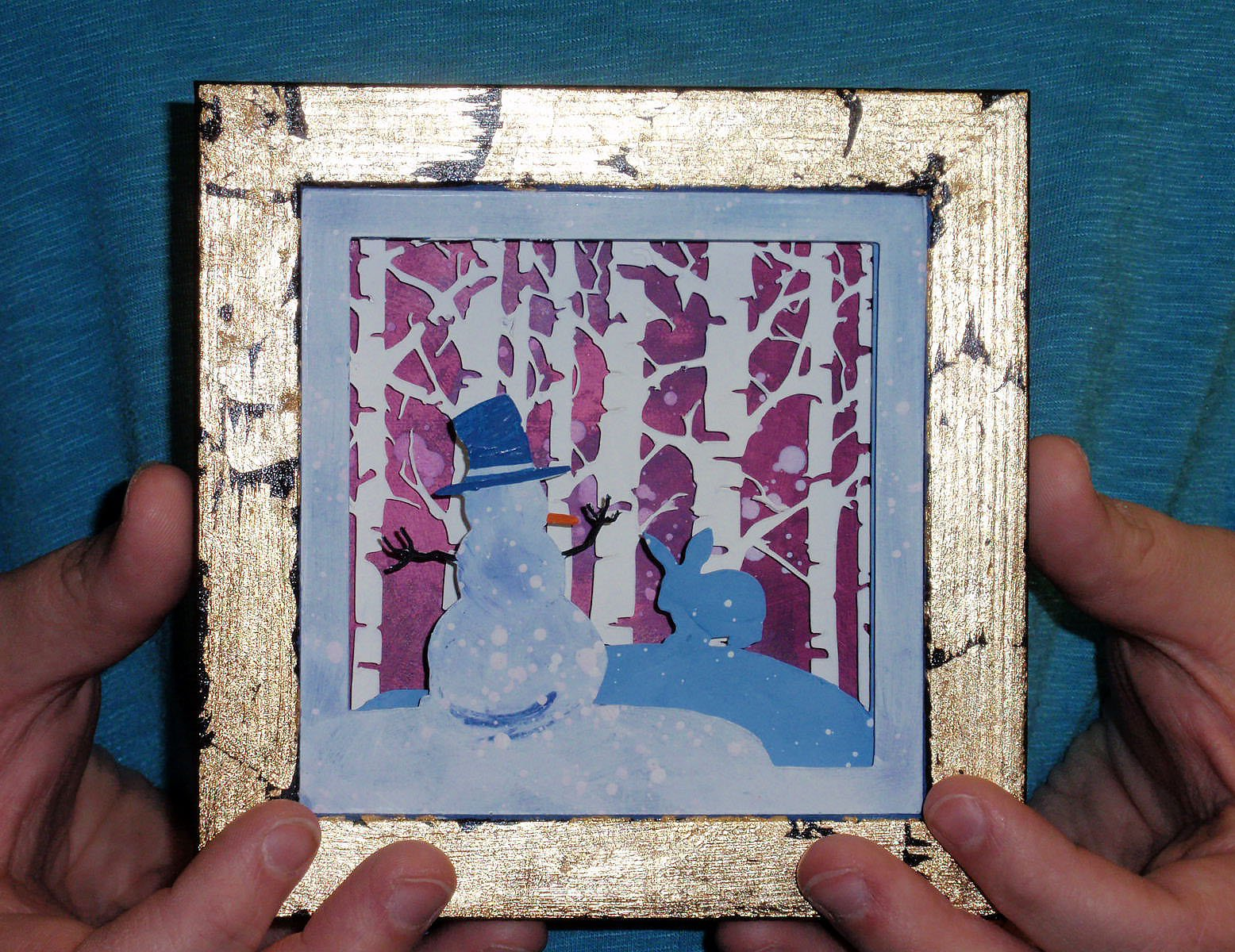 Winter Shadow Box: Cricut Mixed Media Project