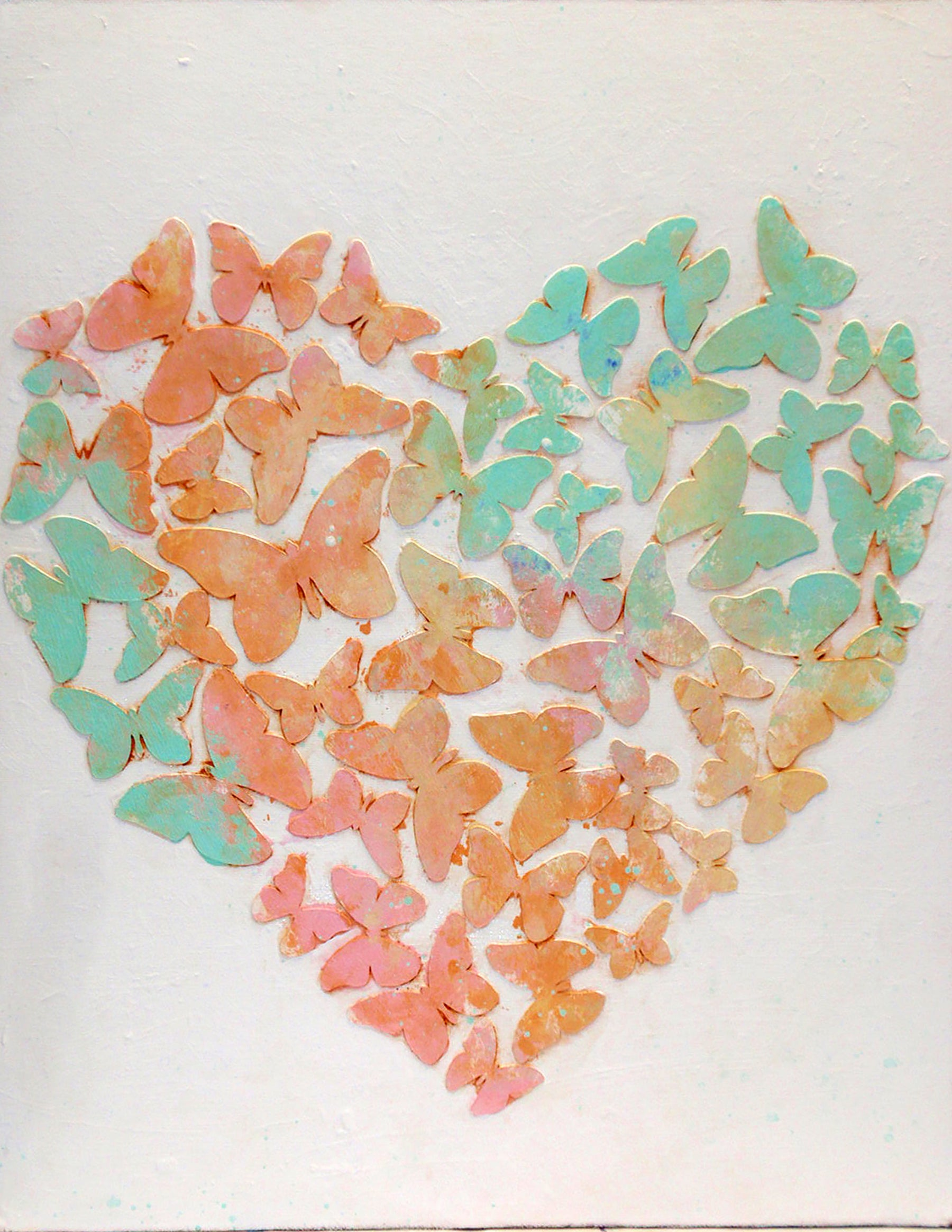 Butterfly Heart: Lovely Mixed Media Wall Decor Using Your Cricut