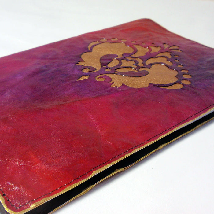 Faux Leather Paper Notebook Cover: Cricut Mixed Media Project