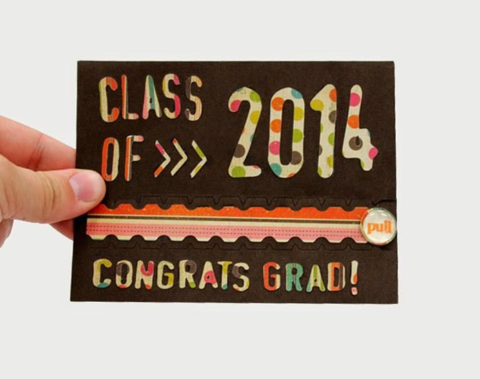 Interactive Zipper Pull Card- Congrats Grad!