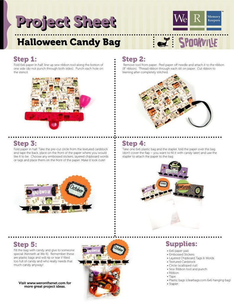 Sew Ribbon Halloween Treat Bag Tutorial