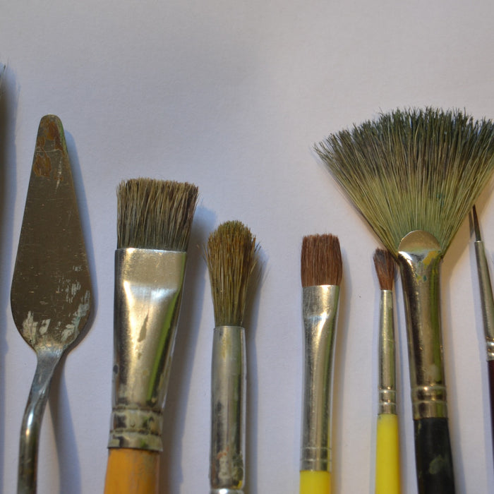 Brushes and More: Exploring Brushes, Knives and Other Paint Tools Plus Beginner Paint Project