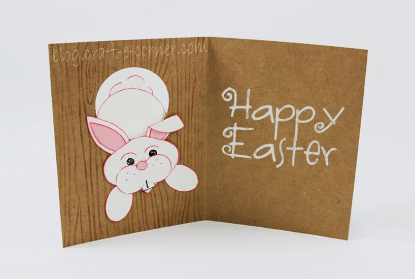 """Through The Bunny Hole"" Easy Easter Bunny Punch Card"