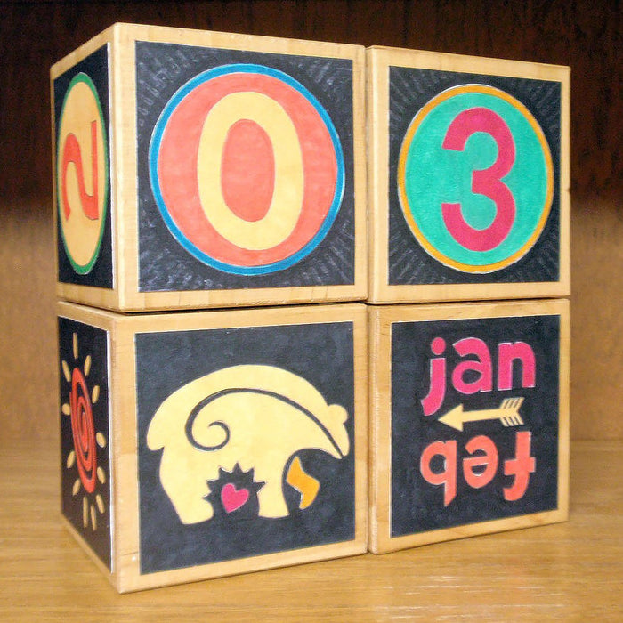 How to Make a Perpetual Block Calendar (including Free Pattern)