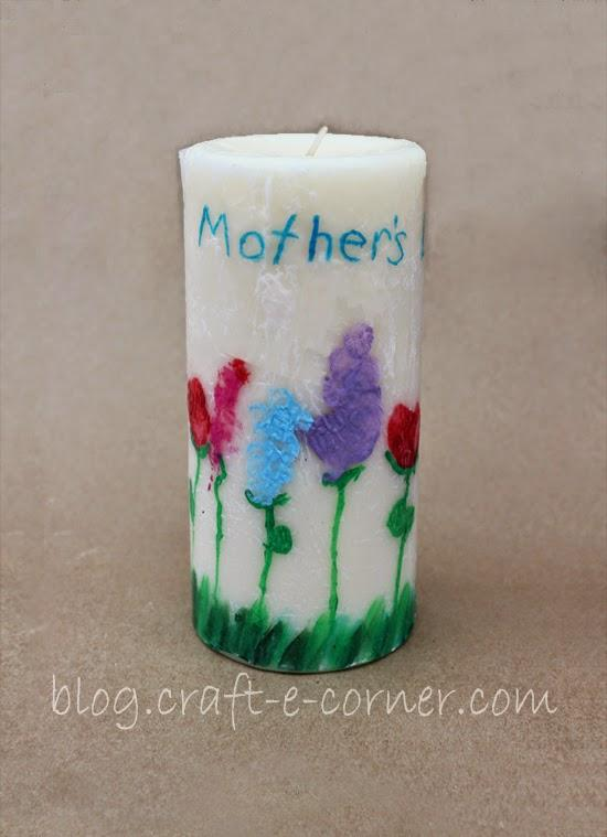 DIY Kid's Artwork Candles for Mother's Day