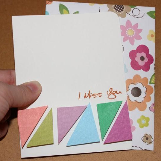 "Quick and Simple Card Making – Colorful ""I Miss You Card"" in less than 5 minutes flat!"