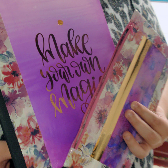 Personalized Supplies for Back to School Using Inks and Cricut Adhesive Foil