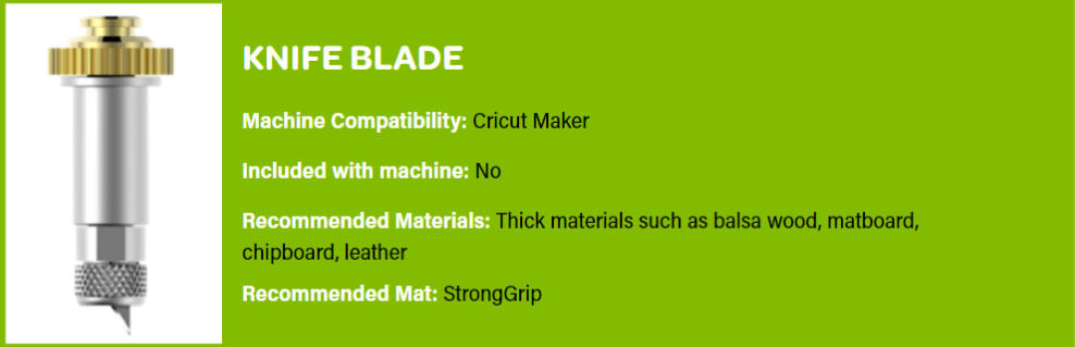 All About the Blades: Cricut Maker Knife Blade