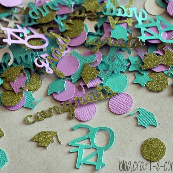 How To Trace In Silhouette Studio and DIY Custom Confetti for the Class of 2014 Grads!