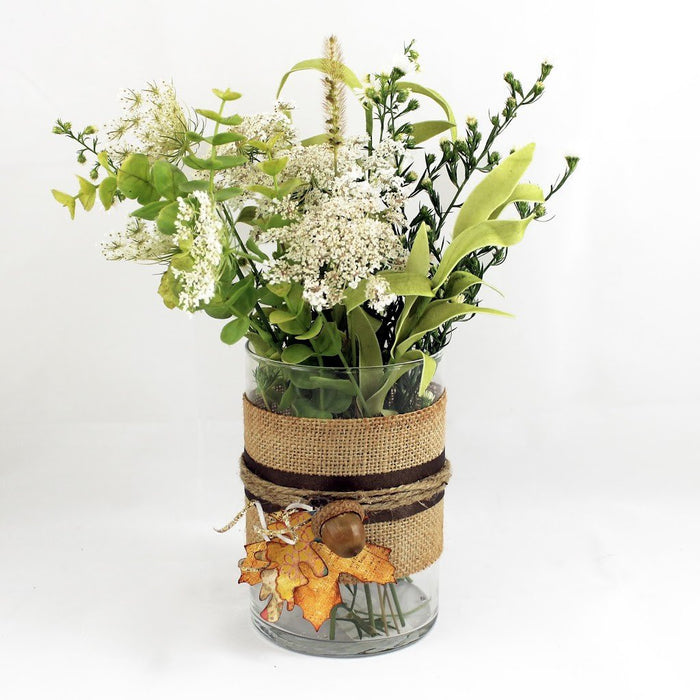Autumn Acorn Flower Vase Tutorial