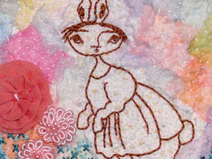 Whimsical Characters in Hand Embroidery - Fabric Collage Plus Free Pattern