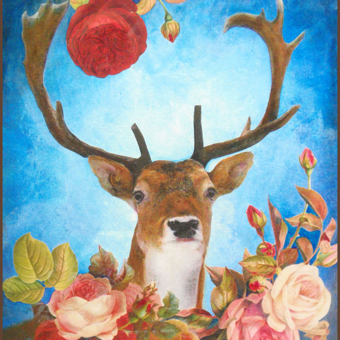 Floral Deer Collage: Make It Using Cricut Print Then Cut