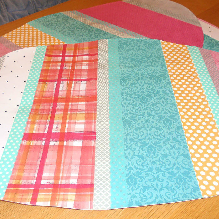 Easter Egg Placemats: Decoupage Scrapbook Paper on Canvas for Your Easter Table