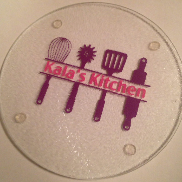 Design #11: Kitchen Utensils! Personalized Glass Cutting Board