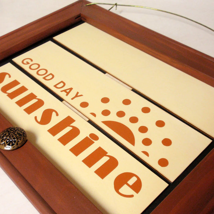 Good Day Sunshine Pallet Sign: Cricut Vinyl Project