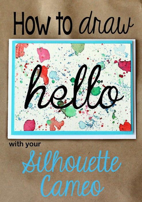 How to draw with your Silhouette Cameo