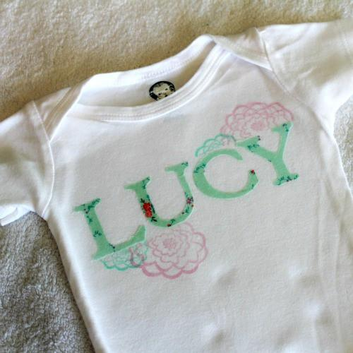 Iron On Fabric & Stazon Ink Onsie Project Tutorial