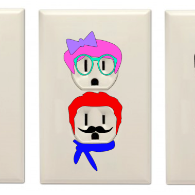 Design #12: Outlet Personalities!  Adding Vinyl in Unexpected Places