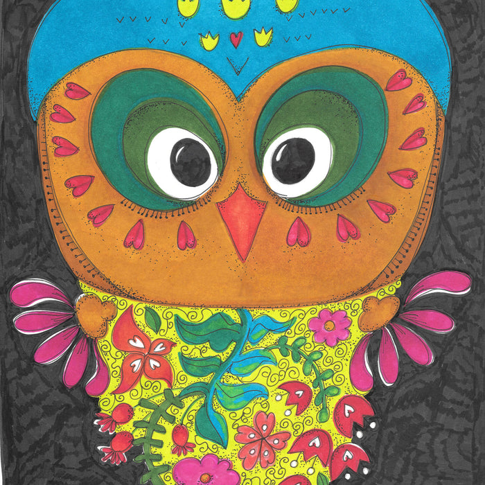 Woodland Animals Marker Coloring Project (and Free Pattern!)