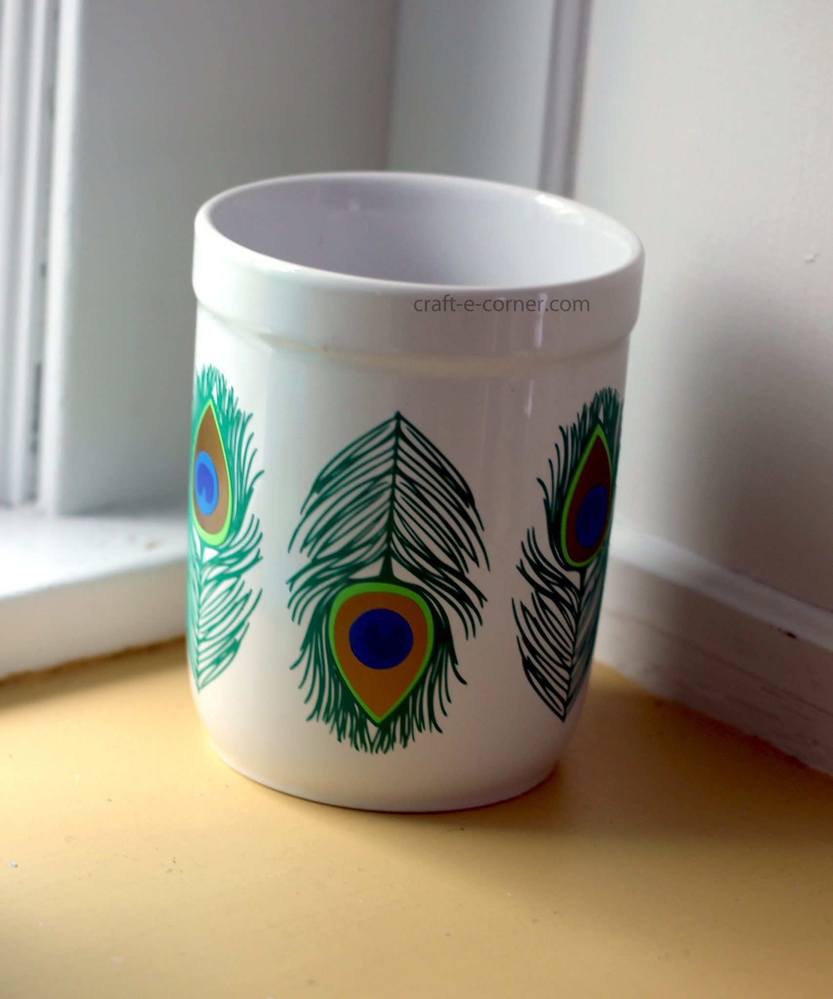 Design #9: Peacock Feather! Detailed Weeding, Utensil Holder Project