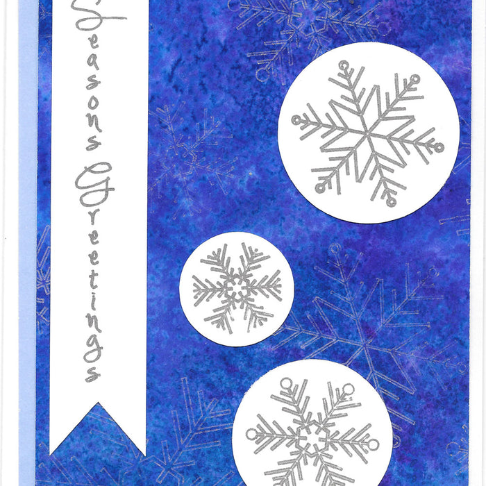 Snowflake Holiday Cards Using Cricut Pens and Watercolor Painted Papers