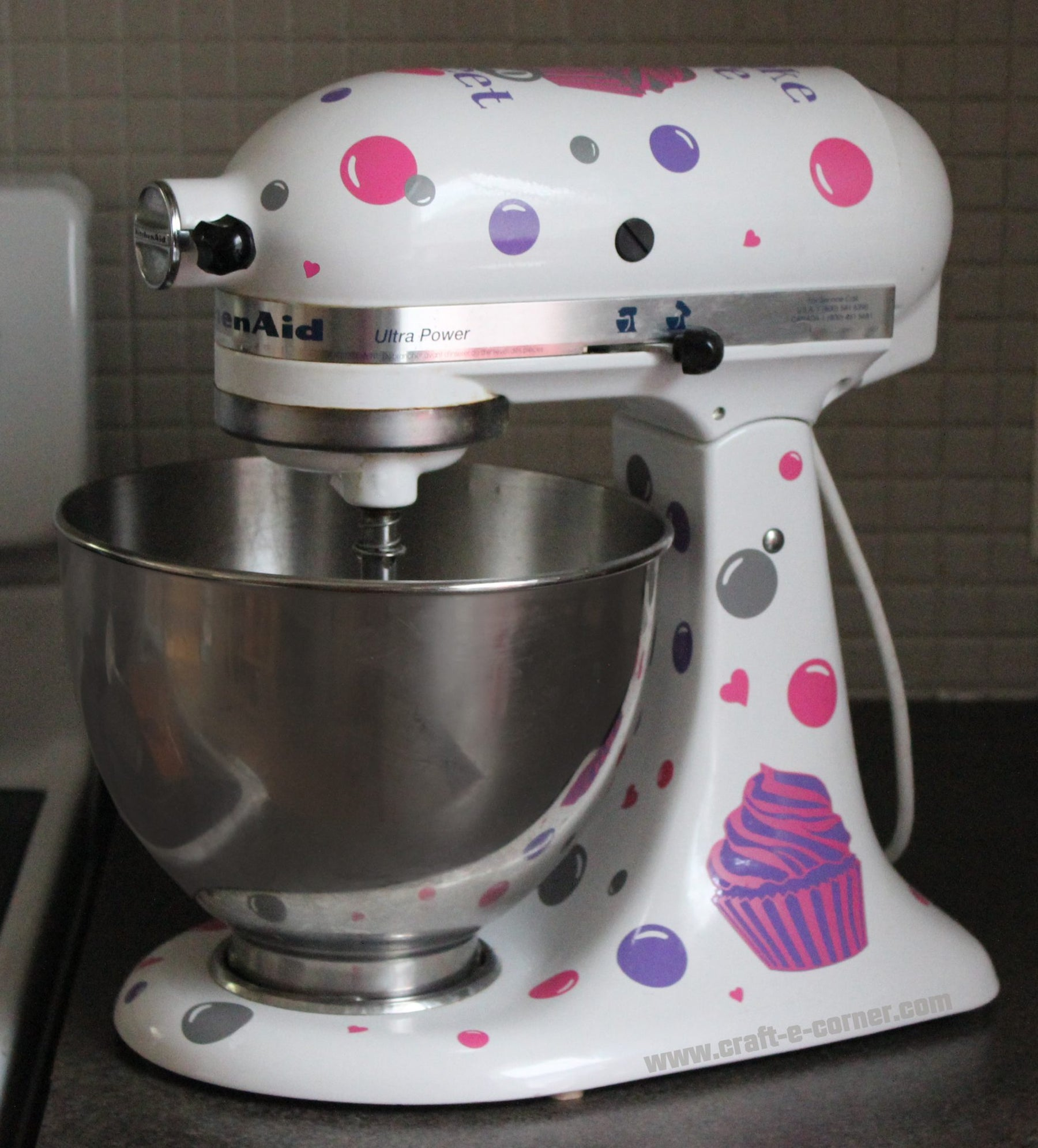 Design #4: Cupcakes!  Personalizing Your Stand Mixer