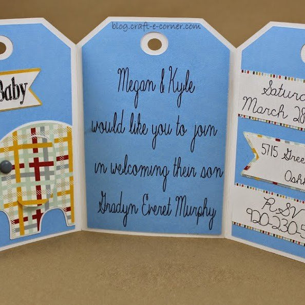 Silhouette 101: How to Weld Plus DIY Baby Shower Invitation Inspiration (and free download!)