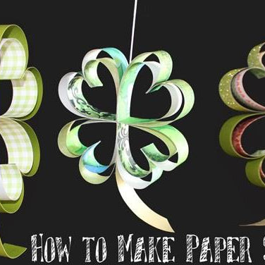 St. Patrick's Day Crafting: How to Make Paper Shamrocks