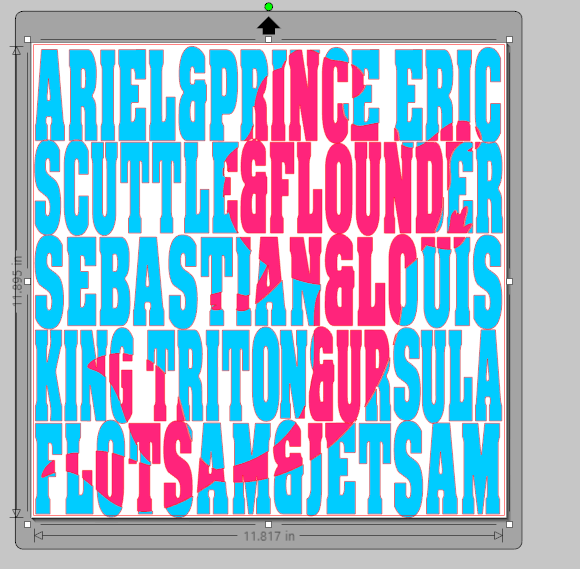 How to create a knockout design in Silhouette Studio- using Ariel for example!