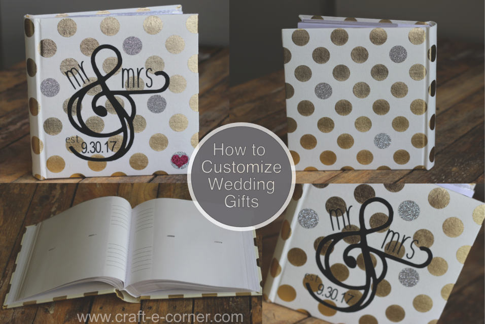 How to customize wedding gifts with heat transfer vinyl and your Silhouette Cameo.