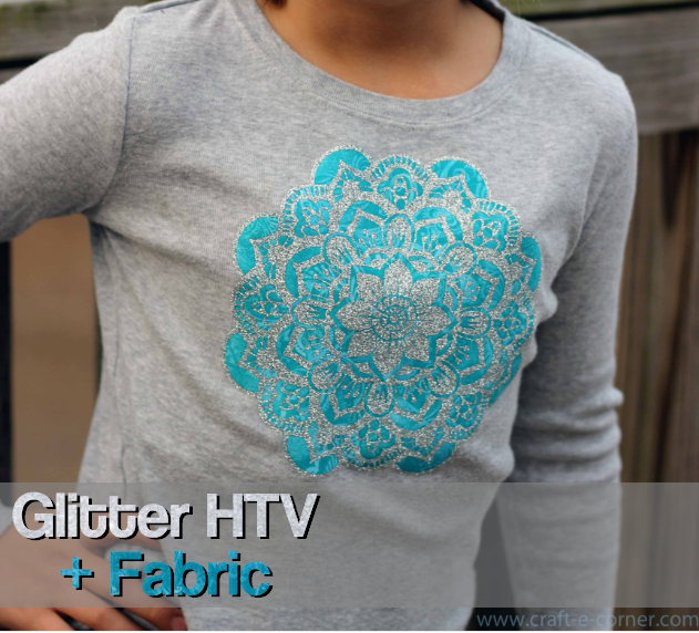 Using glitter heat transfer vinyl + fabric with your Silhouette Cameo creates fun custom shirts!