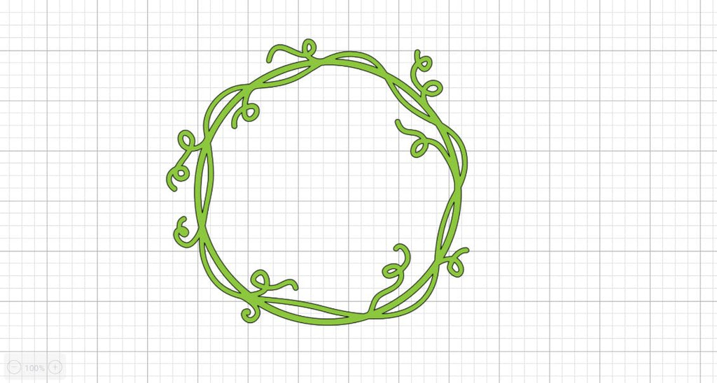 grapevine cut design