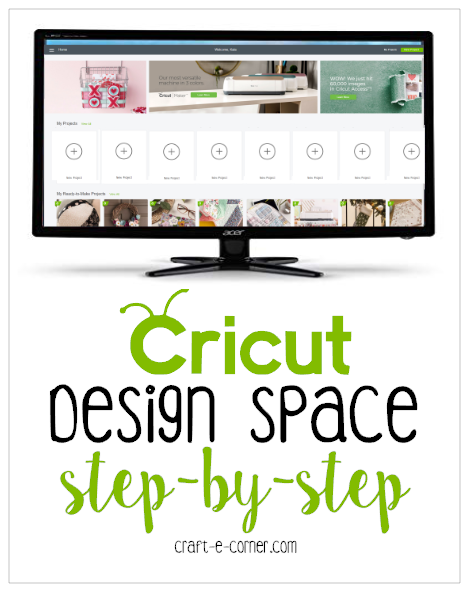 Getting to Know Design Space: Cricut Home Page (Section 1