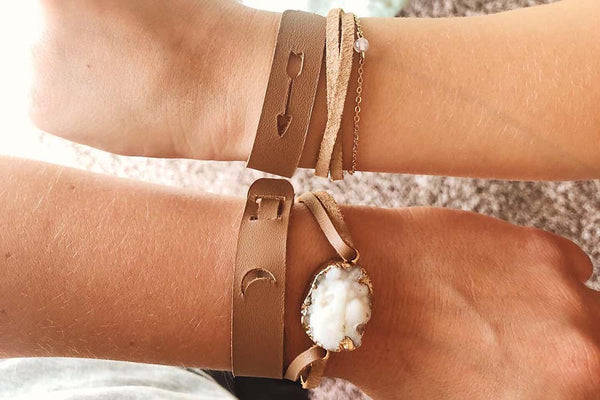 DIY LEATHER JEWELRY PROJECTS MOTHER DAUGHTER BRACELETS