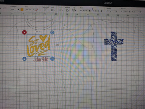 Cricut T-shirt Design Template
