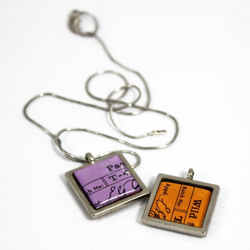 Necklace made with TAZO tea packaging