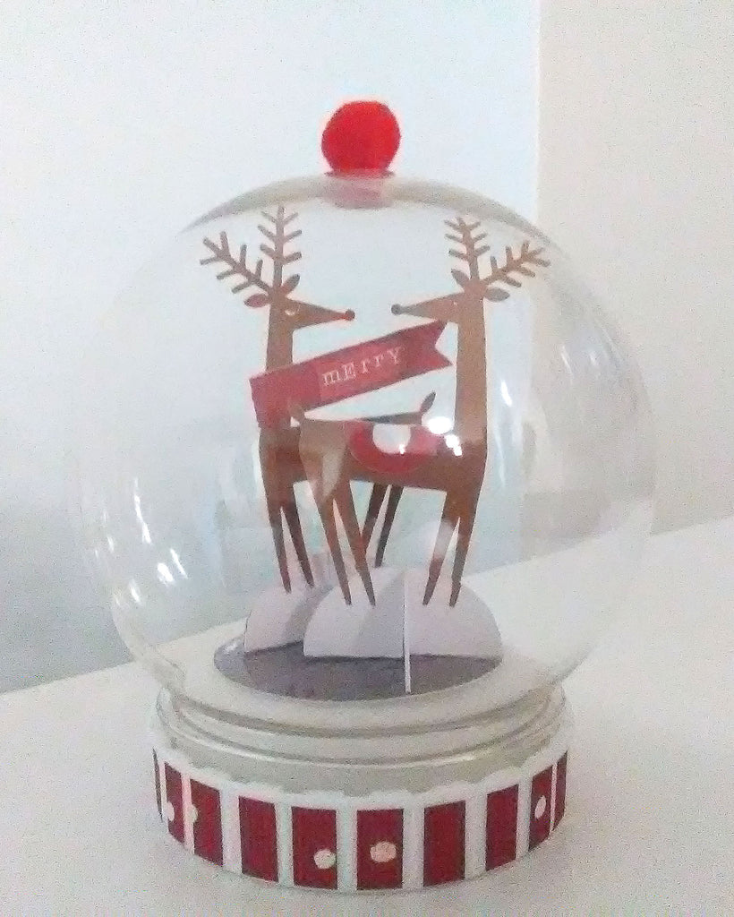 completed snow globe ornament