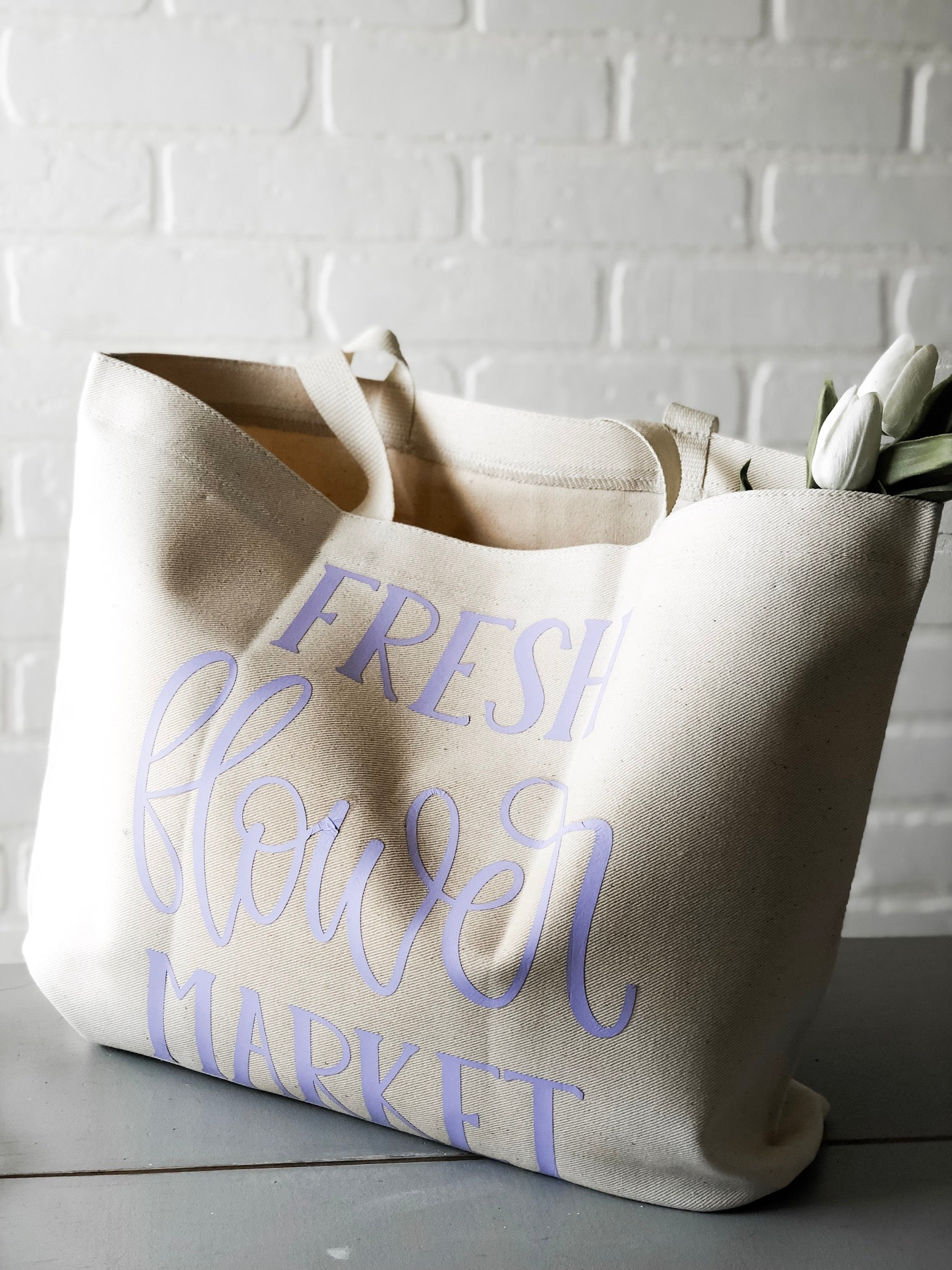 Fresh Flower Market Bag