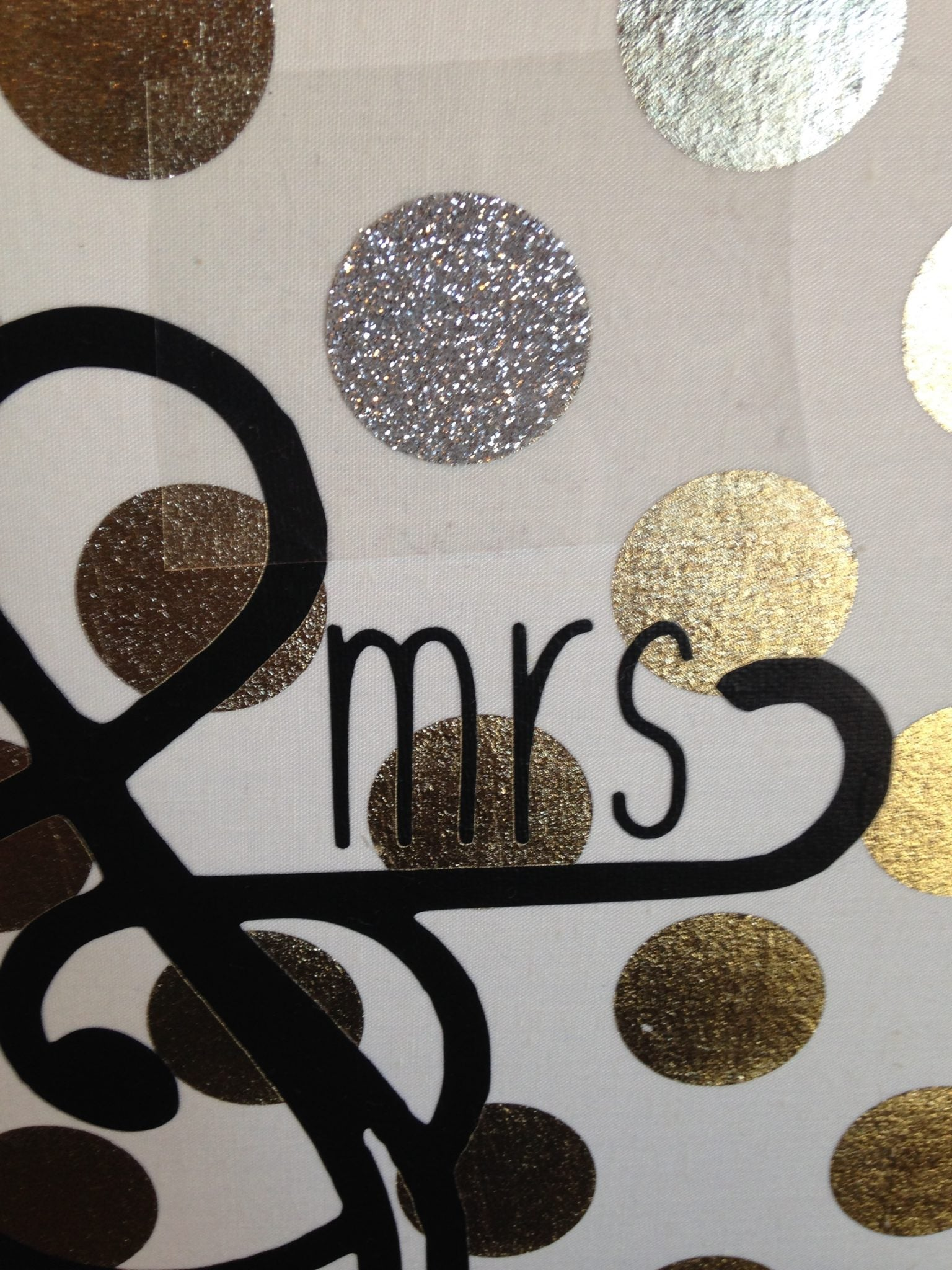 Use glitter heat transfer vinyl to cover up the mistakes.