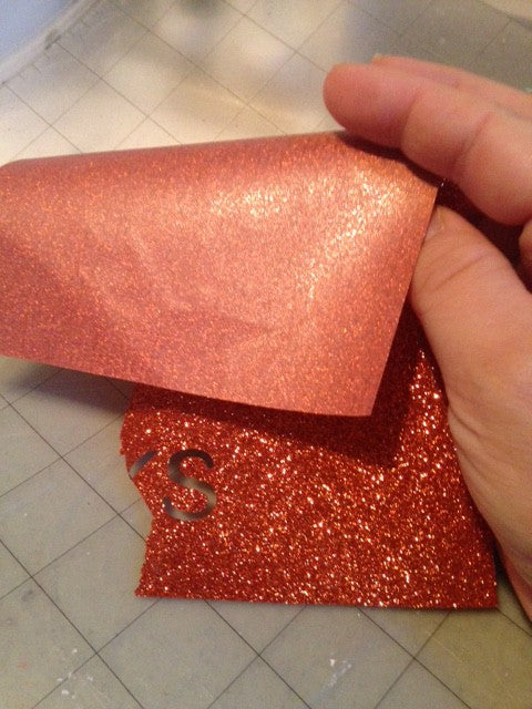 What to do when you have glitter heat transfer vinyl without the backing sheet.