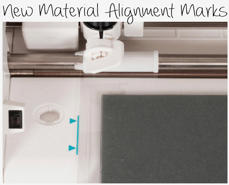 Line up your materals to feed into your Silhouette Cameo easier with the new alignment marks.